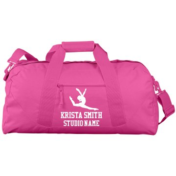 Krista Smith Gymnastics Port &amp; Company Large Square Duffel Bag