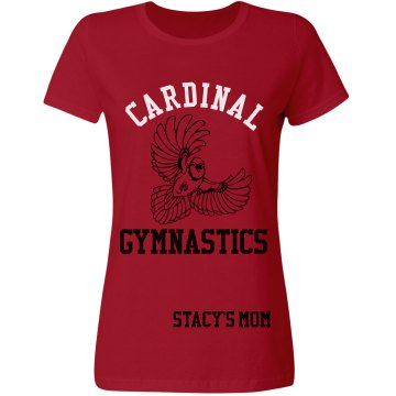 Cardinal Gymnastics Misses Relaxed Fit Gildan Ultra Cotton Tee