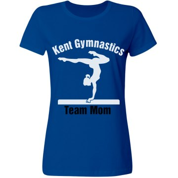 Kent Gymnastics Team Mom Misses Relaxed Fit Gildan Ultra Cotton Tee