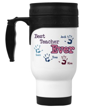 Best Teacher Ever Mug 14oz White Stainless Steel Travel Mug