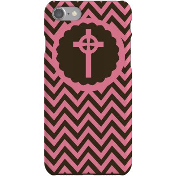 Pink Cross iPhone Case Plastic iPhone 5 Case Black