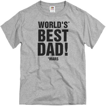 World's Best Dad Unisex Basic Gildan Heavy Cotton Crew Neck Tee