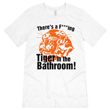 Bachelor Tiger Bathroom Unisex Canvas Jersey Tee