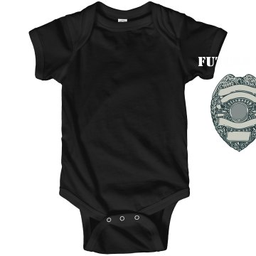 Future Cop Baby One Piece Infant Rabbit Skins Lap Shoulder Creeper