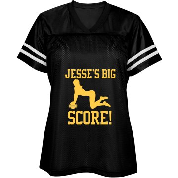 Football Girlfriend Top Junior Fit Soffe Mesh Football Jersey