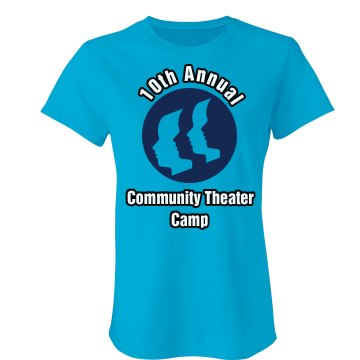 Community Theater Camp Junior Fit Bella Sheer Longer Length Rib Tee