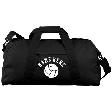 Custom Name Duffel Port &amp; Company Large Square Duffel Bag
