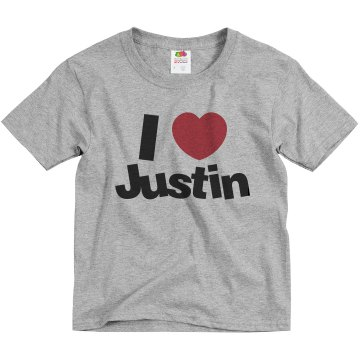 I Love Justin Youth Bella Girl Sheer 2-in-1 Baby Jersey Tee