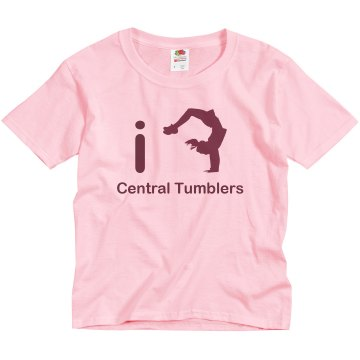 iFLIP Cheer Dance Youth Bella Girl Sheer 2-in-1 Baby Jersey Tee