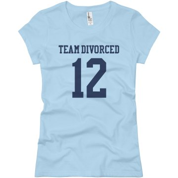Team Divorced w&#x2F;Back Junior Fit Basic Bella Favorite Tee