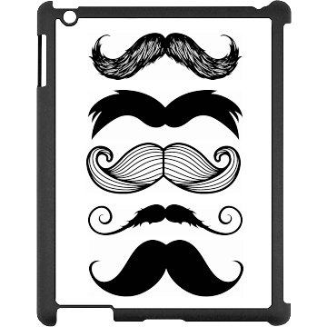 My Mustache Collection Black iPad Snap-on Case