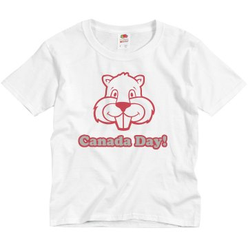 Little Canadian Youth Basic Gildan Ultra Cotton Crew Neck Tee
