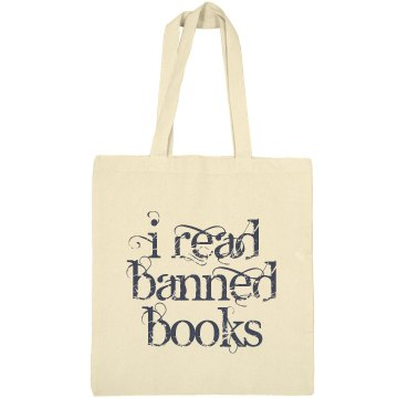 I Read Banned Books Liberty Bags Canvas Bargain Tote Bag
