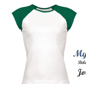 belongs to jordan Junior Fit Bella 1x1 Rib Cap Sleeve Raglan Tee