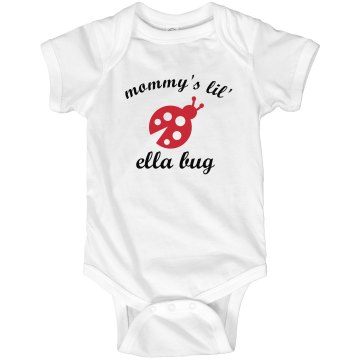 Mommy's Ella Bug Infant Rabbit Skins Lap Shoulder Creeper