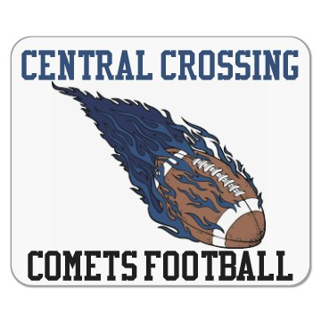 Comets Football Mouse Pad Mousepad