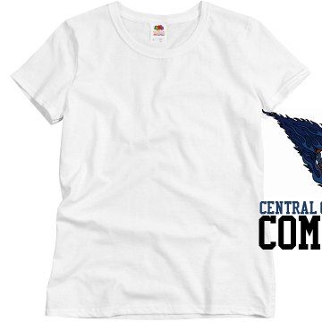 Central Crossing Football Misses Relaxed Fit Basic Gildan Heavy Cotton Tee