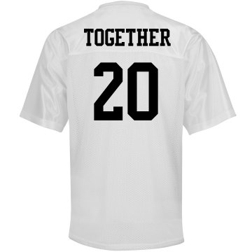Together Since Jersey Unisex Augusta Replica Football Jersey