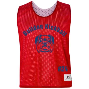 Bulldog Kickball Pinnie Badger Sport Lacrosse Reversible Practice Pinnie