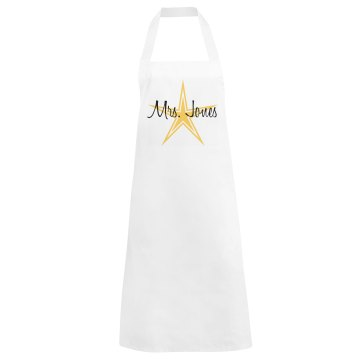 Gold Star Apron Basic White Apron