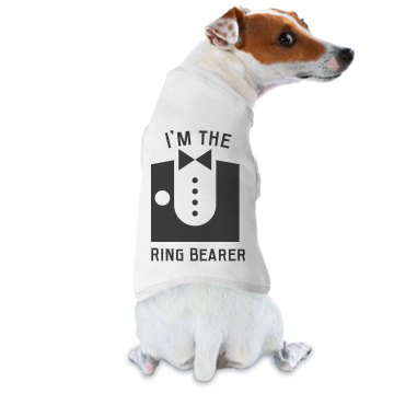 Dog Tux Ring Bearer Doggie Skins Dog Ringer Tee