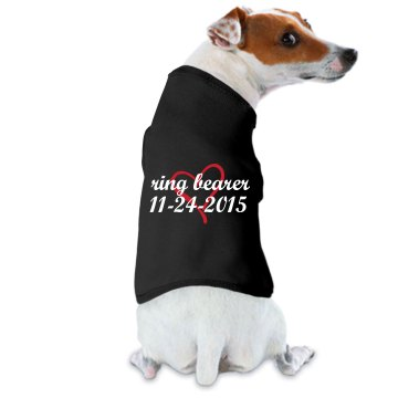 Ring Bearer Dog Hood Doggie Skins Dog Hoodie Tee