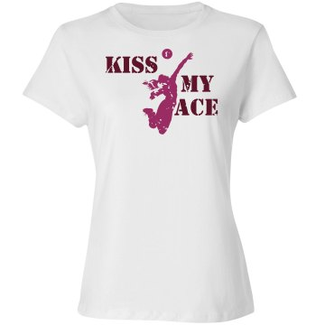 Kiss My Ace Alo Women's Bamboo Crew Neck Tee