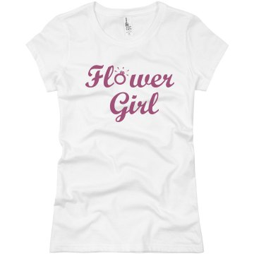 Flower Girl Ring Junior Fit Basic Bella Favorite Tee
