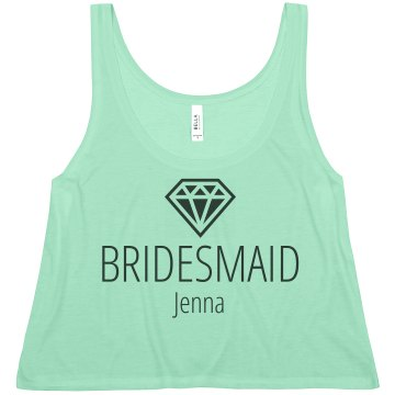 Bride Dove  Junior Fit Bella Sheer Longer Length Rib Tank Top