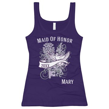 Maid Of Honor Dove Junior Fit Bella Sheer Longer Length Rib Tank Top