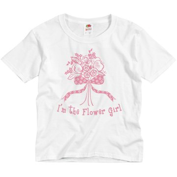 I'm The Flower Girl Youth Basic Gildan Ultra Cotton Crew Neck Tee