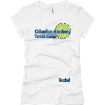 Columbus Academy Tennis Junior Fit Basic Bella Favorite Tee