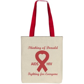Aids Awareness Ribbon Bag Liberty Bags Cotton Canvas Tote