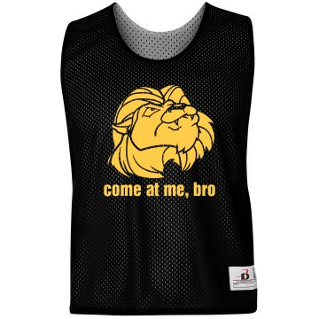 Lion Mascot Come At Me Badger Sport Lacrosse Reversible Practice Pinnie