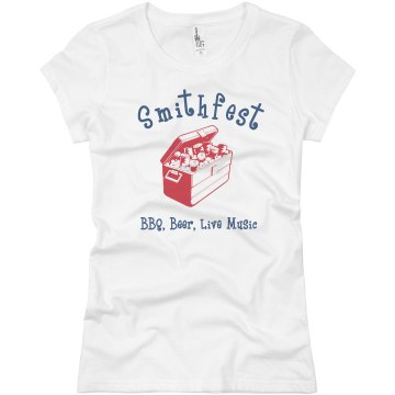 SmithFest Reunion Picnic Junior Fit Basic Bella Favorite Tee