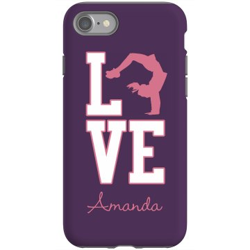 Love Cheerleading Rubber iPhone 4 & 4S Case Black