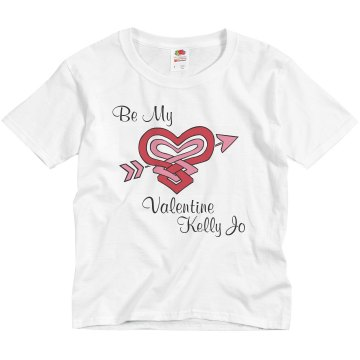 Youth Valentine Design Youth Basic Gildan Ultra Cotton Crew Neck Tee