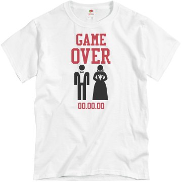 Game Over Groom Tee Unisex Basic Gildan Heavy Cotton Crew Neck Tee