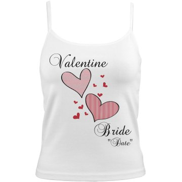 Valentine Bride Cami Bella Junior Fit Contrast Satin Trim Cami