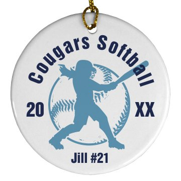 Softball Ornament Plastic Ball Ornament