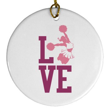 Love Cheer Ornament Plastic Ball Ornament