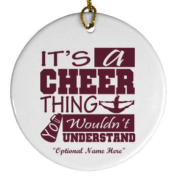 Cheer Thing Ornament Plastic Ball Ornament