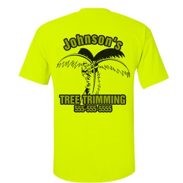 Tree Trimming Neon Green Unisex American Apparel Neon Crew Neck Tee
