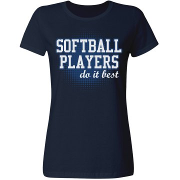 Softball Players Misses Relaxed Fit Gildan Ultra Cotton Tee