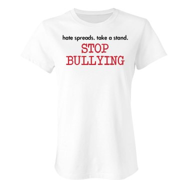 Stop Bullying Junior Fit Bella Double V Sheer Jersey Tee