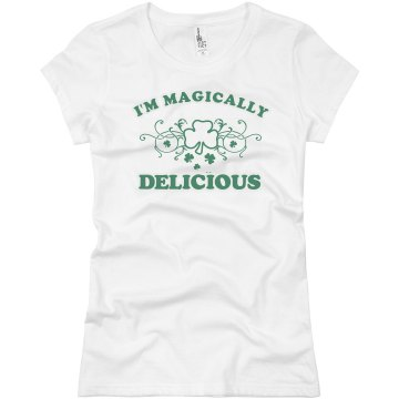 I&#x27;m Magically Delicious Junior Fit Bella Sheer Longer Length Rib Tee