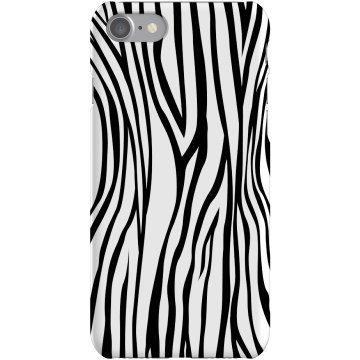 Zebra Stripes Plastic iPhone 5 Case Black