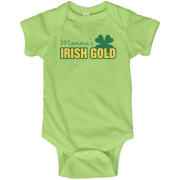 Irish Gold Infant Rabbit Skins Lap Shoulder Creeper