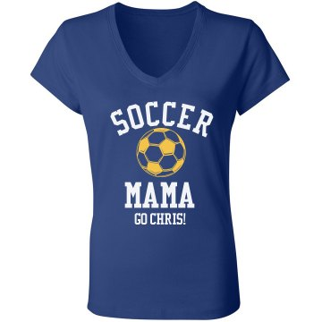Soccer Mama Junior Fit Bella 1x1 Rib V-Neck Tee