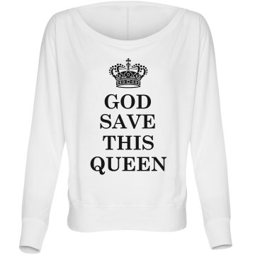 God Save This Queen Misses Bella Flowy Lightweight Relaxed Dolman Tee